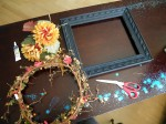 fall picture frame wreath supplies