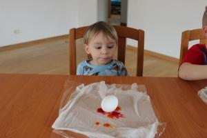 toddler easter egg tie dye